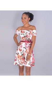 Yabes XENOBIA- Petite Floral Off Shoulder Dress