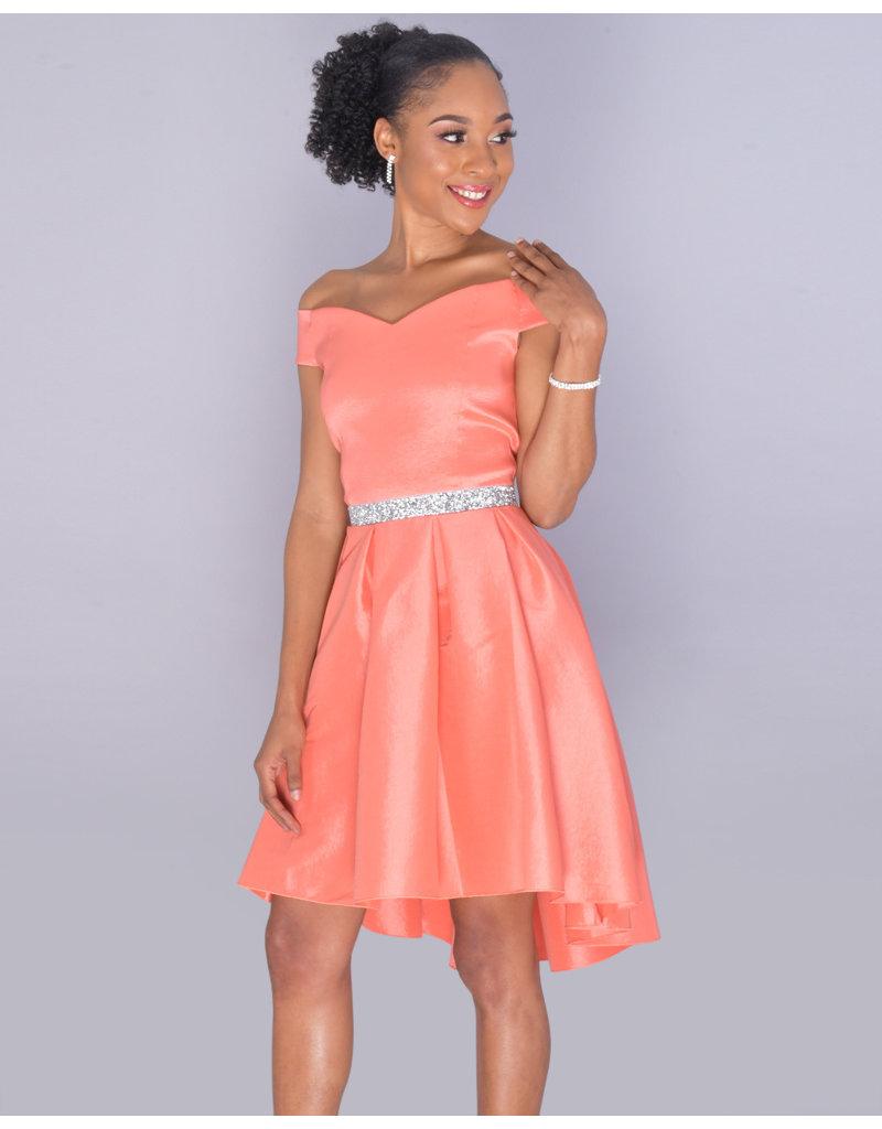 7e49e7f3acff Dress-taffeta w/jewel waist - Harmonygirl.com