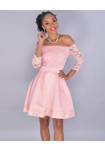 Carolina ULIMA - Petite  Lace Fit and Flare Dress