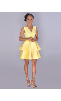 Carolina UDINA- Sleeveless Double Flounce Scuba Dress
