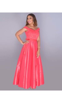 TASHA- Lace Top Full Length Gown