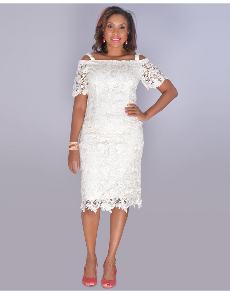 CAPELLA- Crochet Lace Off Shoulder Midi