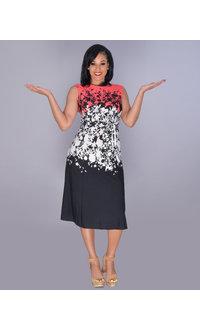 RITU- Printed Ombre Sleeveless Midi