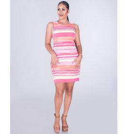 Pappagallo REZA- Printed Sleeveless Sheath Dress