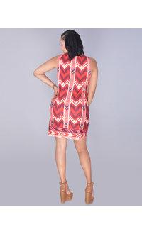 Aryeh ELIZABETH-Printed Textured Sleeveless Dress