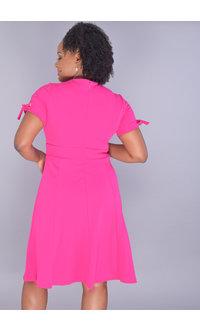 Shelby & Palmer RATANA-Short Sleeve Dress with Tie at Waist
