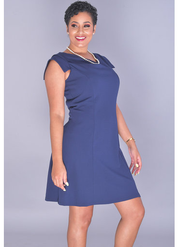 Bebe RAYANNA-Cowl Neck Capped Sleeve Dress