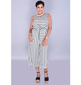 KRYSTLE-Striped Jumper with Tie At Side