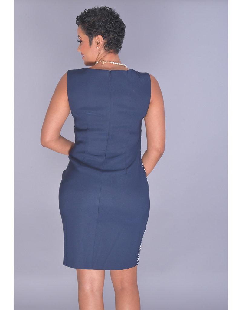 PORTIA- Printed Block Pattern Dress