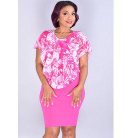 REXENIA- Printed Pop Over Dress