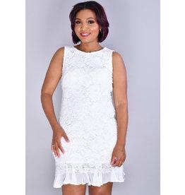 Sandra Darren CHERYL- Floral Print Overlay Dress