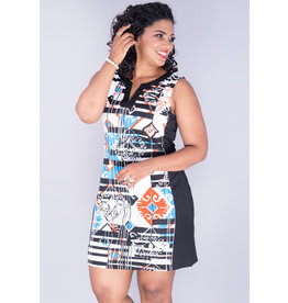 Aryeh Yatra- Sleeveless V-Split Neck Dress