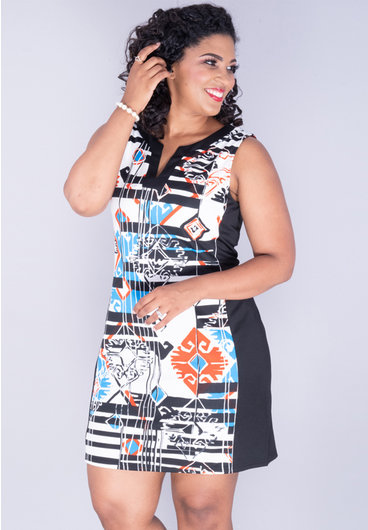 Aryeh Yatra- Sleeveless V-Split Neck Dress