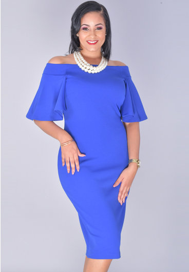Bebe RYLINDA- Off Shoulder Bell Sleeve Dress