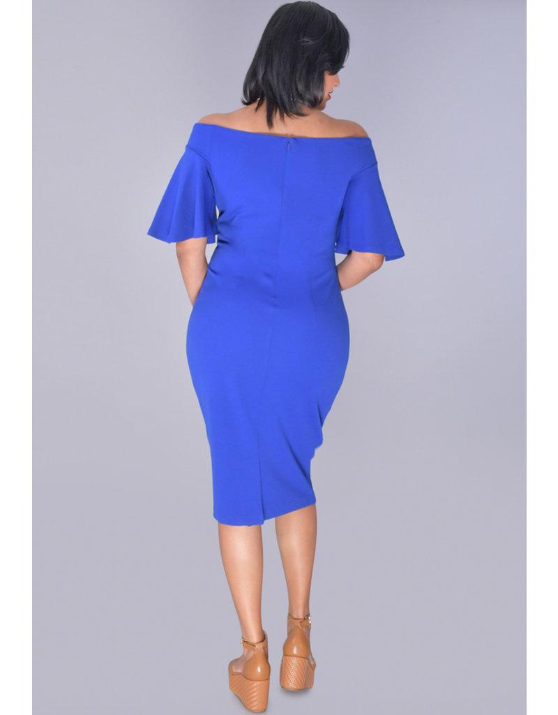 Bebe RYLINDA- Off Shoulder Bell Sleeve Dress
