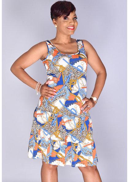 MSK IDEBOR- Sleeveless Shift Dress