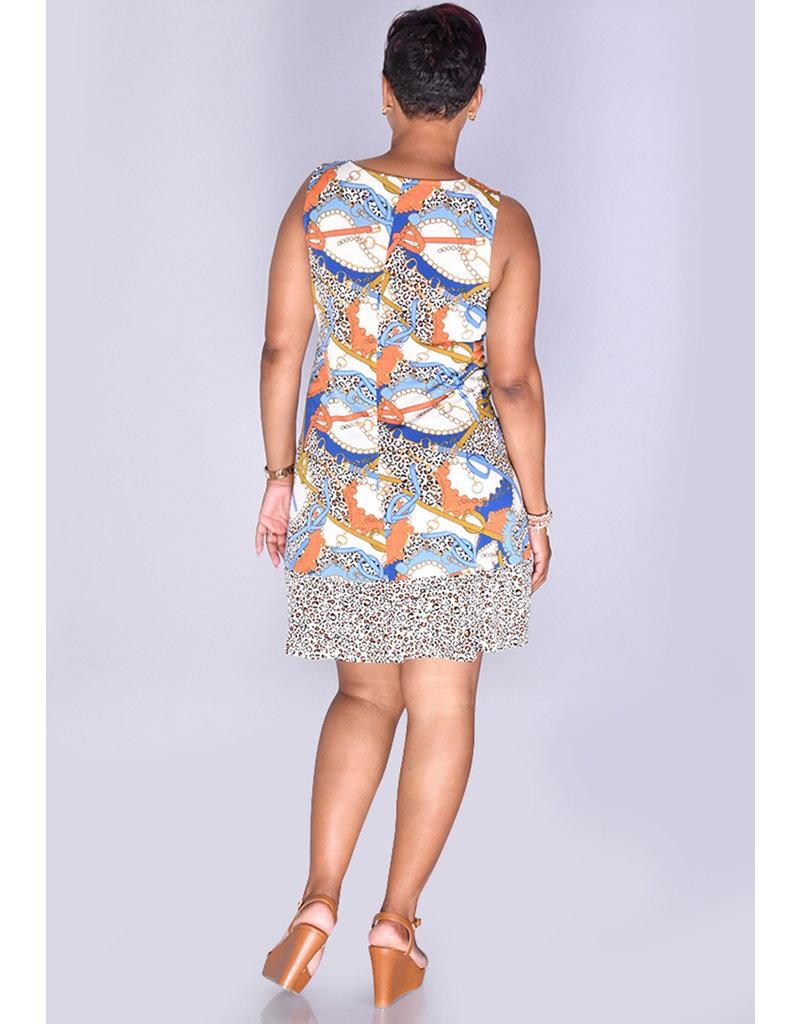 MSK IDANET- Gold Ring Sleeveless Dress