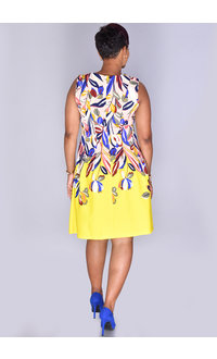 RAISSA- Vibrant Sleeveless Floral Dress