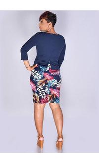 Kara Girl RAZIA- Printed Jacket Look Dress with 3/4 Sleeves