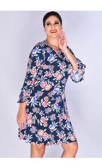 Nine West IDERLU- 3/4 Trumpet Sleeve Floral Shift Dress