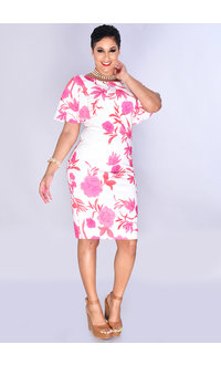 Eliza J PERDITA- Short Bell Sleeve Sheath Dress