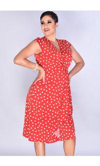 Signature IDIOR- Cap Sleeve Puff Print Dress