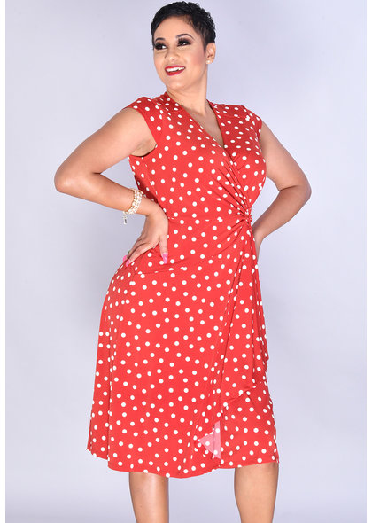 Signature IDIOR- Cap Sleeve Puff Print Dress