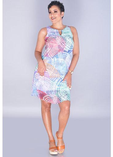 Scarlett FADWA- Printed V-Neck Sleeveless Dress