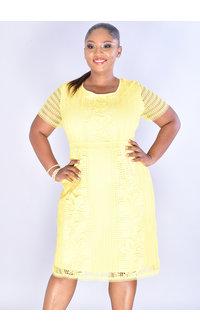 CHULA- Floral & Geo Round Neck Dress