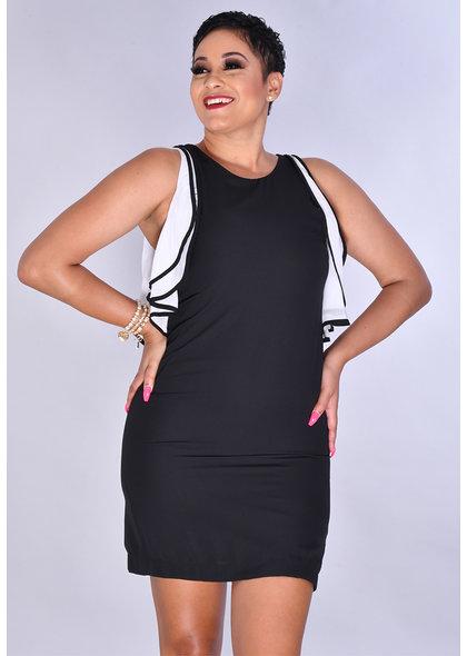 JEMMA FRANCIA- Round Neck Cold Shoulder Dress