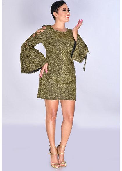 JEMMA MARCIA- Cold Shoulder Long Sleeve Dress