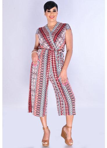 Sandra Darren YOKONA- Geo Print Jumper with Crossover