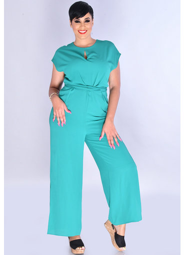 RISHIKA- Jumpsuit with Keyhole & Twist at Waist
