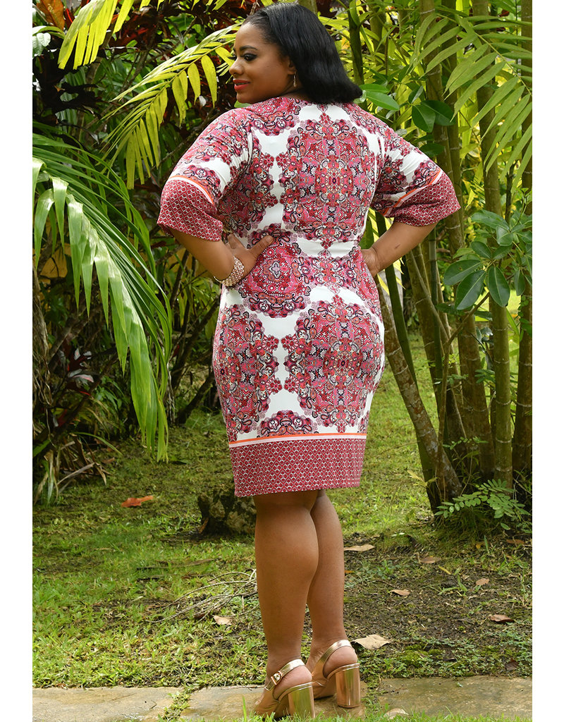 IRIDA- Mandala Print Round Neck Dress