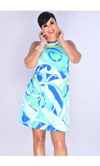GENESIA- Stretchy Swirl Print Dress