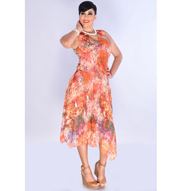 FERU- Printed V-Neck Dress