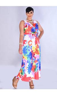 YADIRA- Printed Maxi Broad Strap Dress