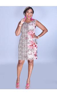 IDERA- Animal & Floral Print Dress