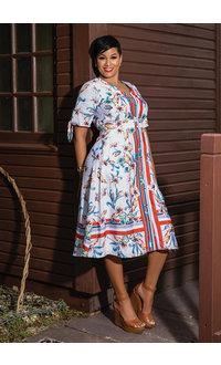 Julia Jordan RUBIE- Long Floral Dress with Short Sleeves