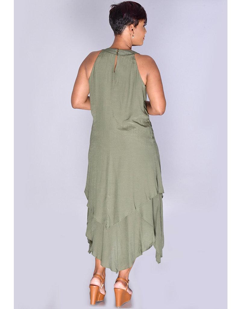 GOLAH-Keyhole Strap Dress