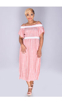 Violet Weekend KALI- Off the Shoulder Maxi Dress
