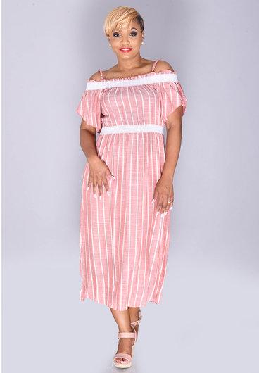 Violet Weekend KALI- Off the Shoulder Maxi Dress
