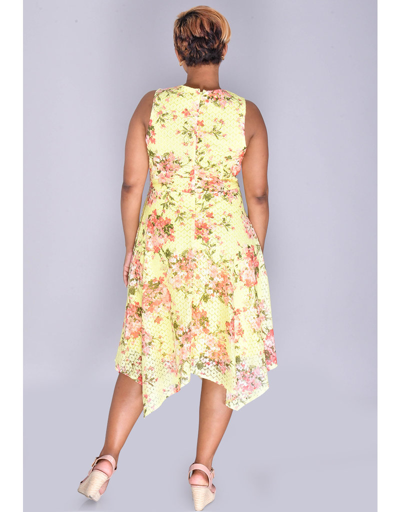 Shelby & Palmer CLARISSA-Printed Fit and Flare Dress