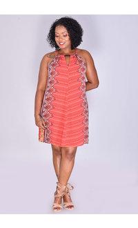 KYOTO- Strappy Printed Dress