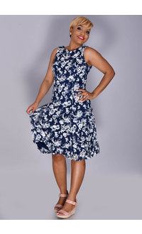 LYSTRA- Floral Lace Overlay Dress