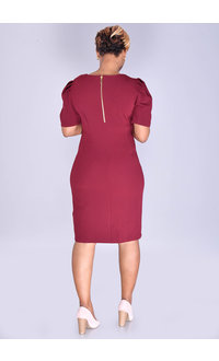 RUDRANI- Puff Sleeve Dress