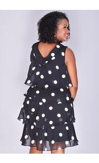 FRAYNE- Polka Dot Shutter Dress