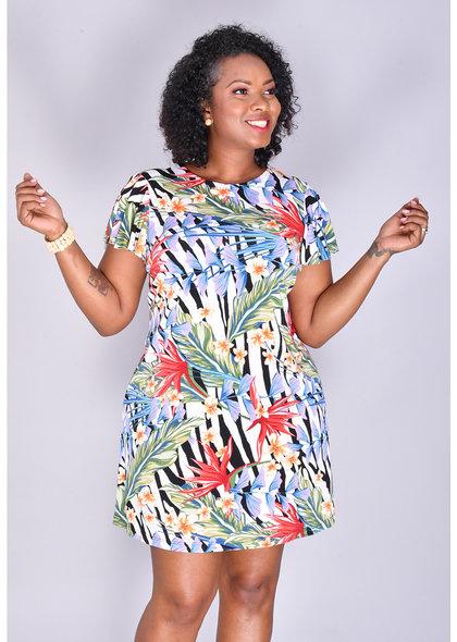 ISHAAN- Floral Print Shift Dress