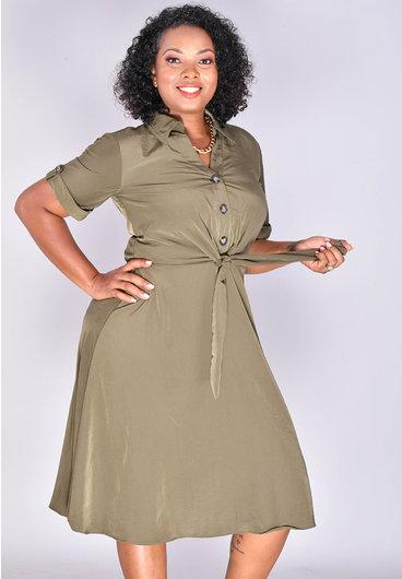 Signature SKYLA- Fit and Flare Shirt Dress