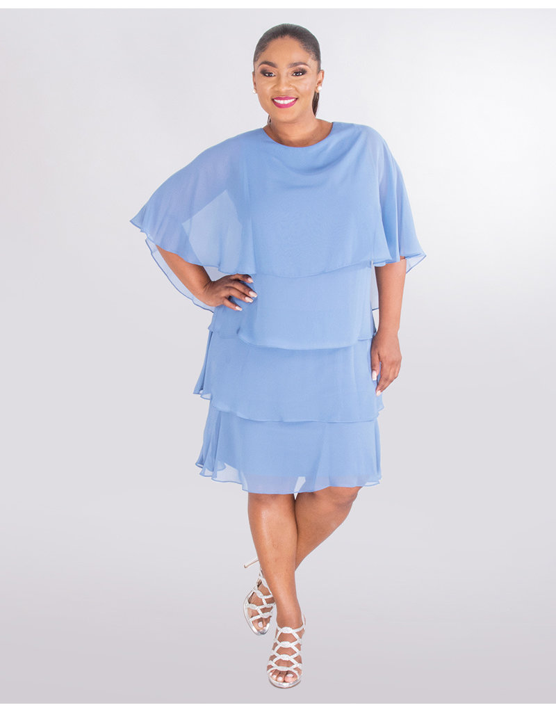 ONXY Nite FRANCINE- Cape Dress with Shutters